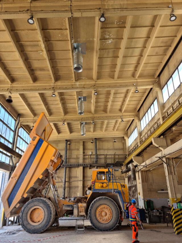 Instalacje przemysłowe wentylacji w Kopalni Wapienia